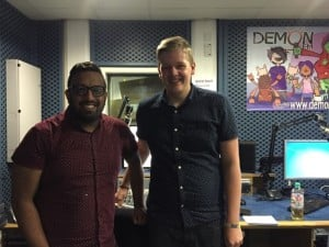 Roushan Alam (Radio 1 Producer) & Ollie McGrath Pictured in DemonFM's Studios