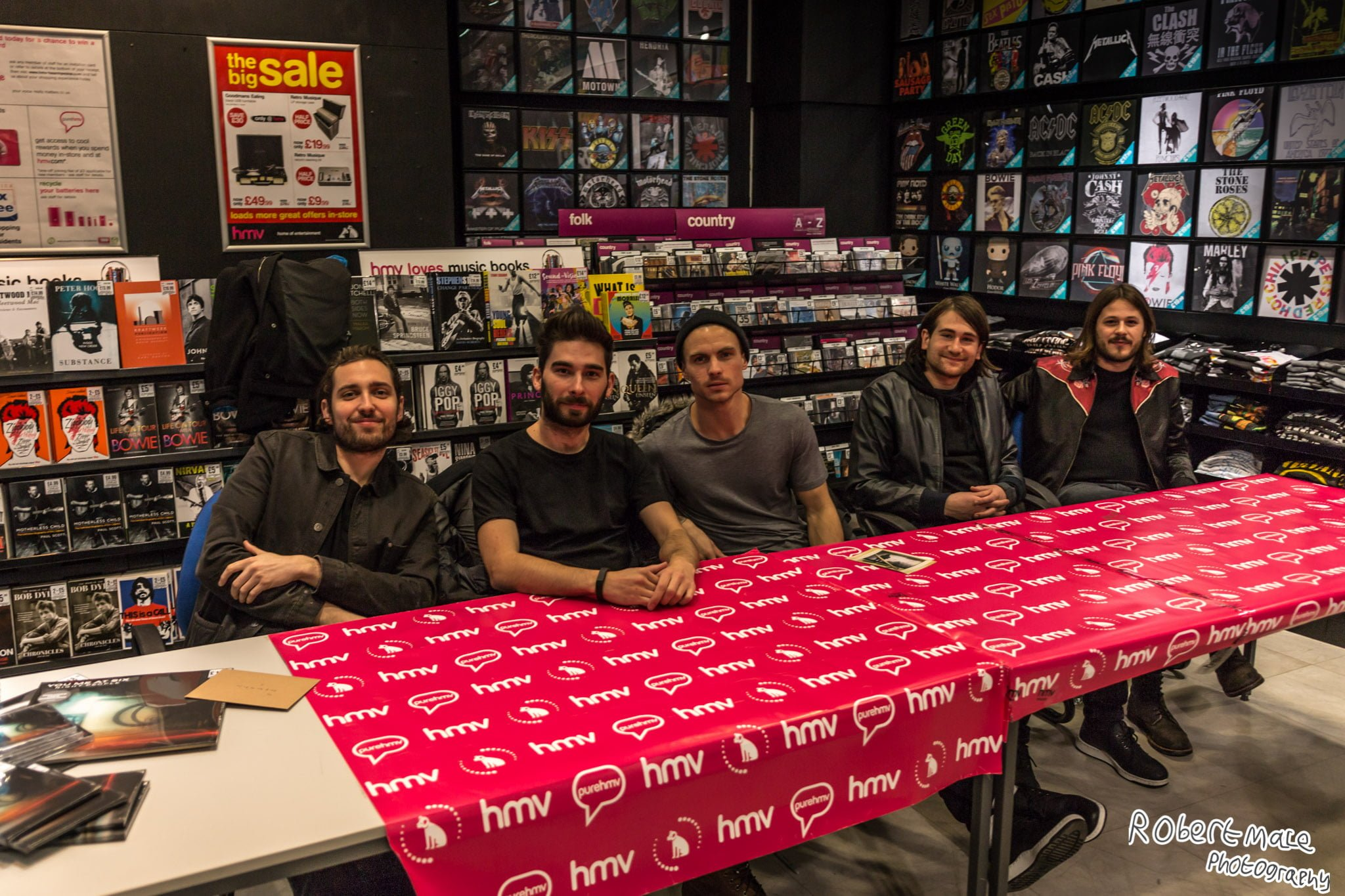 Band 'You Me At Six' storm HMV Leicester