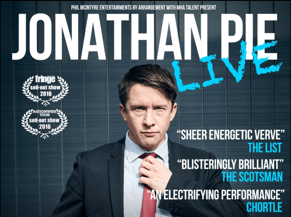 Comedy Festival: Jonathan Pie @ The Y Theatre