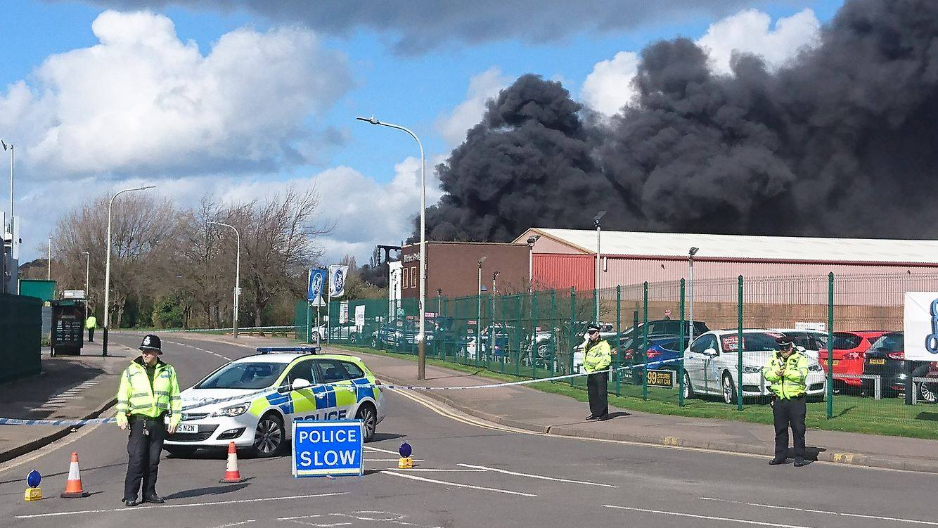 Fire at electrical sub station sends black smoke across Leicester skyline