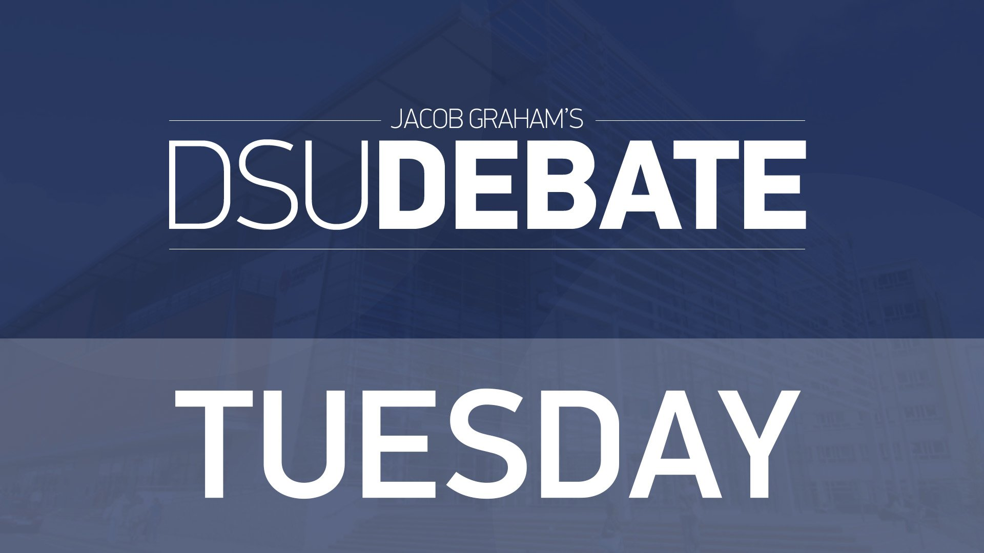 DSU Debates – President And VP Welfare