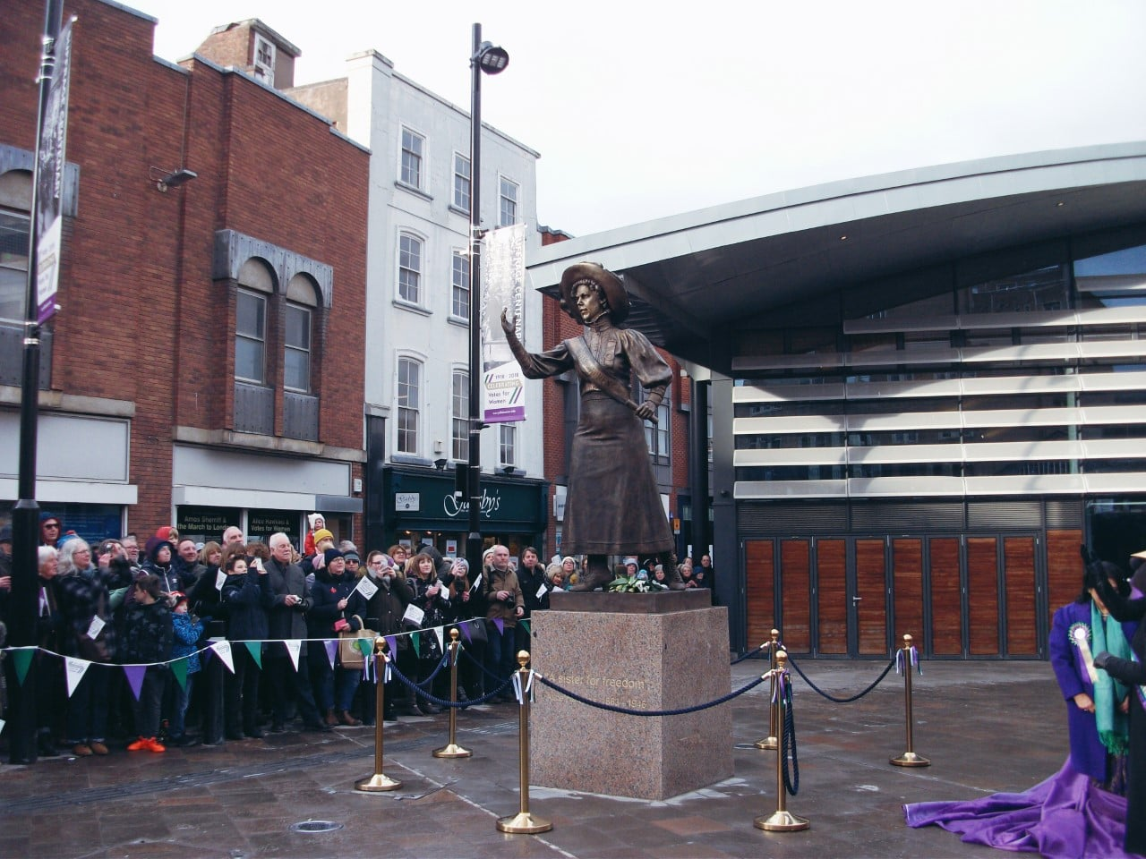 Statue of Leicester suffragette Alice Hawkins unveiled