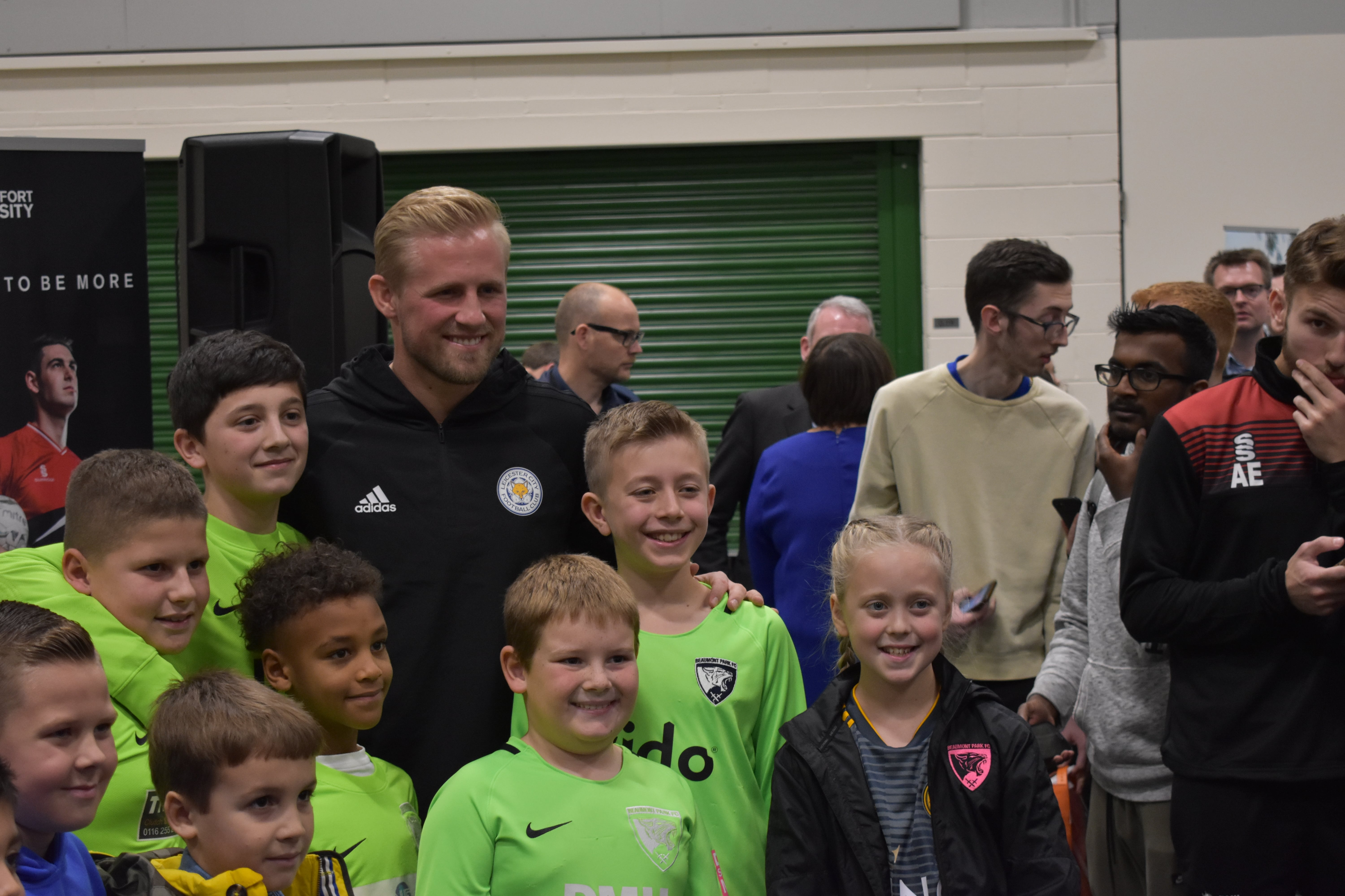 Leicester City's Kasper Schmeichel opens DMU's Watershed building