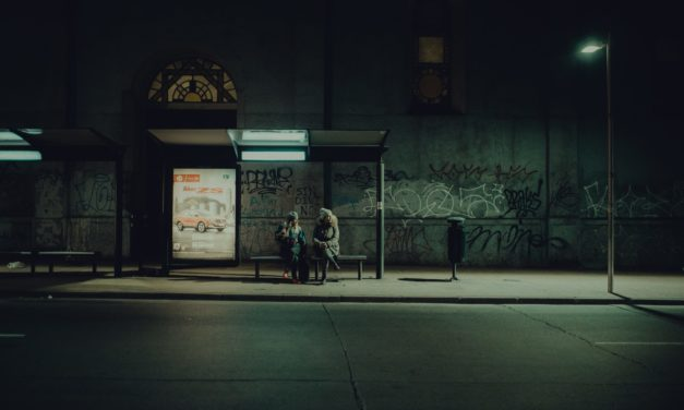At the Bus Stop: